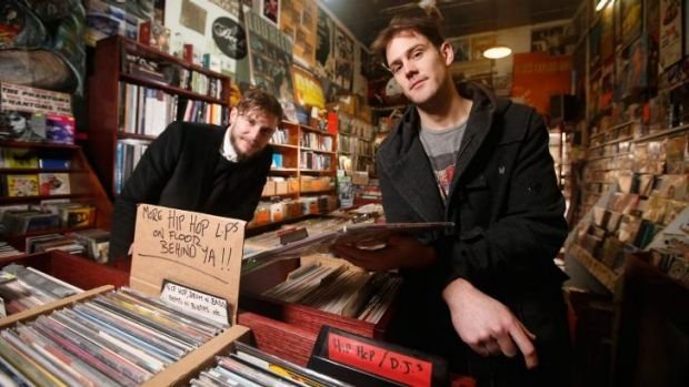 Playing along: <i>High Fidelity</i> director David Ward with actor Russell Leonard who plays Rob, the protagonist who ...