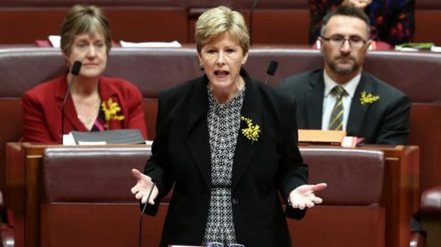 Greens leader Christine Milne moves to suspend standing orders in the Senate.