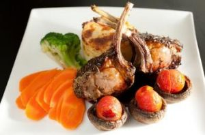 Perfect: Herb-crusted rack of lamb at the Kevington Hotel, one of Victoria's great old pubs.