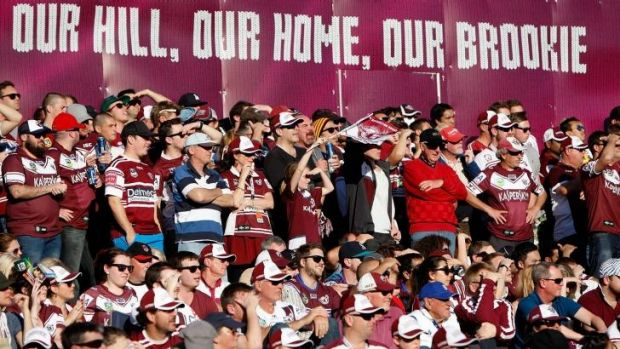 Nice day for it: Fans enjoy the sun at Brookvale on Sunday.