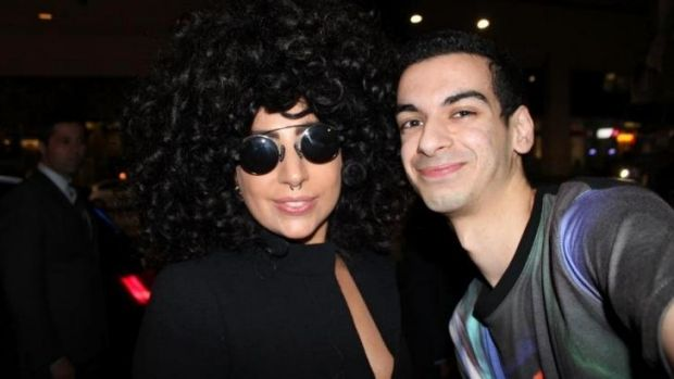 Biggest fan: Lady Gaga with Beau Lamarre.