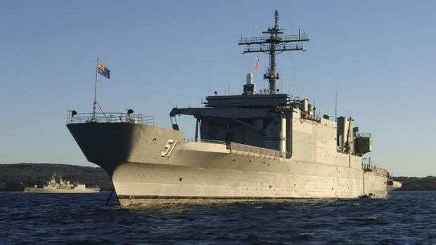 Junked: Amphibious supply ship HMAS Kanimbla and its sister ship, HMAS Manoora, were decommissioned prematurely due to ...