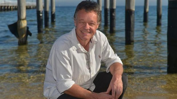 Made it: Children's author - and now filmmaker - Graeme Base at Albert Park Beach.