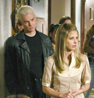 What nobody else could give her: <i>Buffy The Vampire Slayer's</i> Spike (James Masters) stood up to Buffy (Sarah ...