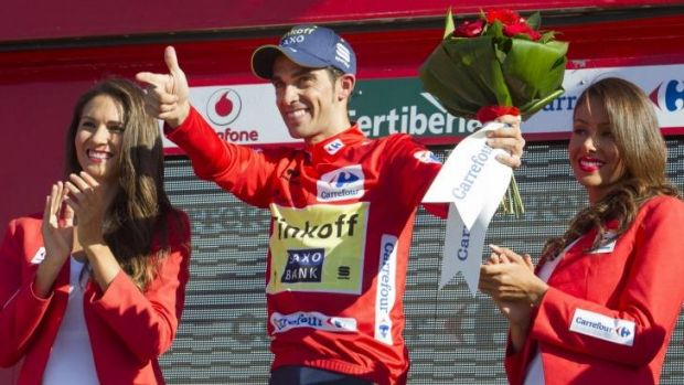 """The truth is that nobody could have imagined that today I would be wearing red, it's a big surprise"": Contador."