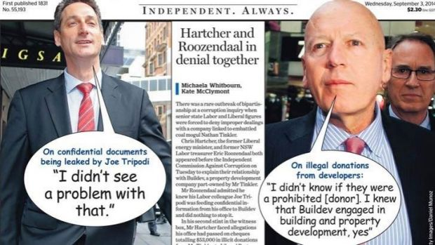 No laughing matter: the <i>Herald's</i> front page with the controversial Comic Sans typeface.