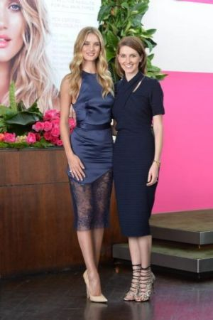 Table for two: Rosie Huntington-Whiteley and Kate Waterhouse.