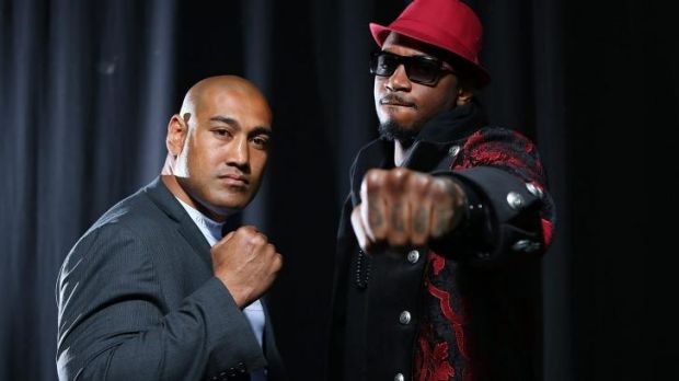 Logan's Alex Leapai and American Malik Scott face off ahead of their October 24 bout in Brisbane.