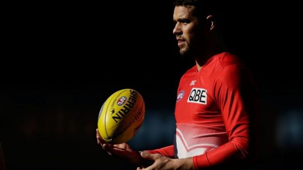 Buddy good: Lance Franklin trains with the Swans this week.