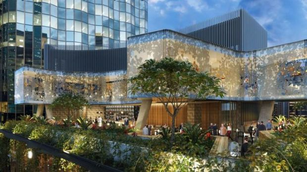 An artist's impression of buildings in the Kurilpa draft plan.