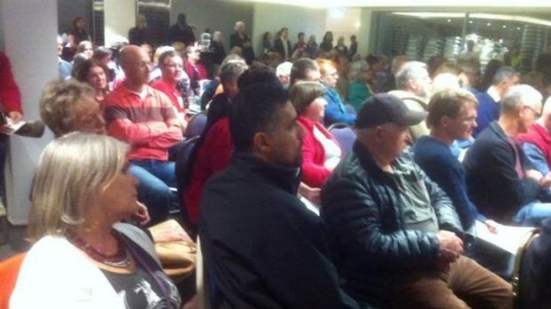 About 350 residents descended on Souths Rugby League clubhouse to discuss the draft plan for Kurilpa.