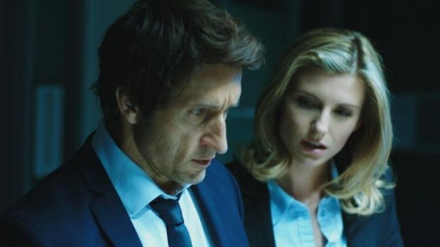 No horror here: Robbie (Jonathan LaPaglia) and Jane (Viva Bianca) are on the case in <i>The Reckoning</i>.