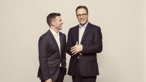 Bring popcorn: David Campbell, left, is hitting the big screen but doesn't think he'll knock Ryan Gosling or George ...
