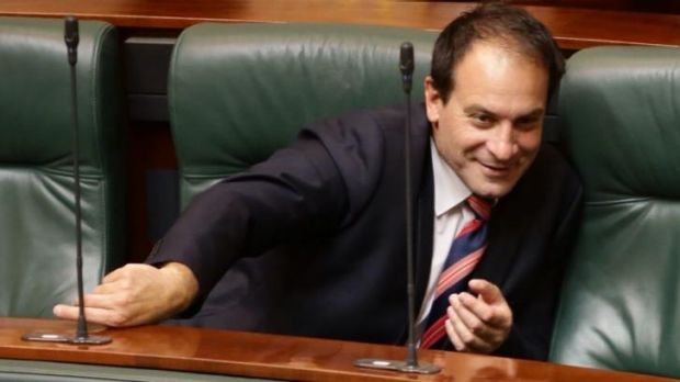 Winners are grinners: Geoff Shaw in Parliament on Thursday.
