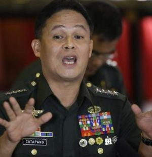 Accusation: Philippines armed forces chief Gregorio Catapang.