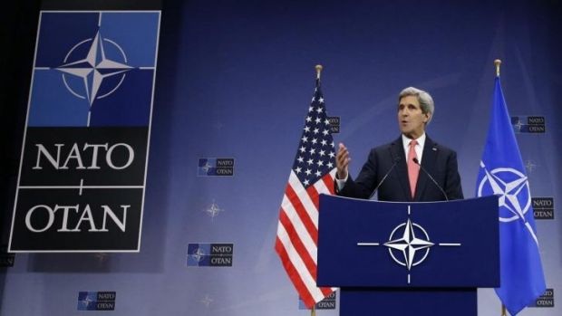 Members' club: US Secretary of State John Kerry speaks during a NATO foreign ministers' meeting. Australia may be on the ...