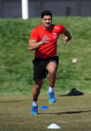 New Brumby: Rodney Iona trains for the Vikings.