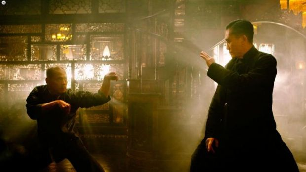 Tony Leung, right, stars as Tony Ip in <i>The Grandmaster</i>.