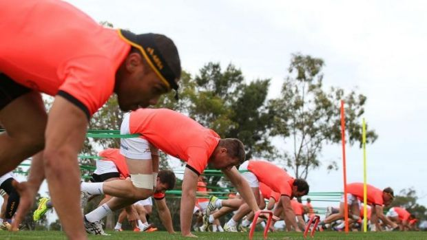 In the frame: The Springboks train in Perth this week for their match against Australia on Saturday night.