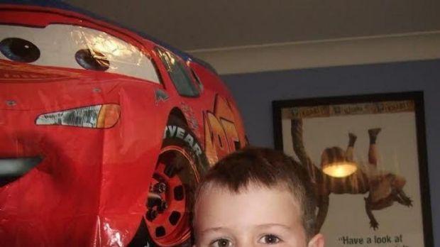 Cessnock boy, Lincoln Hicks, who had open-heart surgery in April 2014.