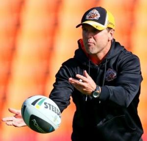 Unfinished business: Mick Potter wants to remain at the helm of Wests Tigers.