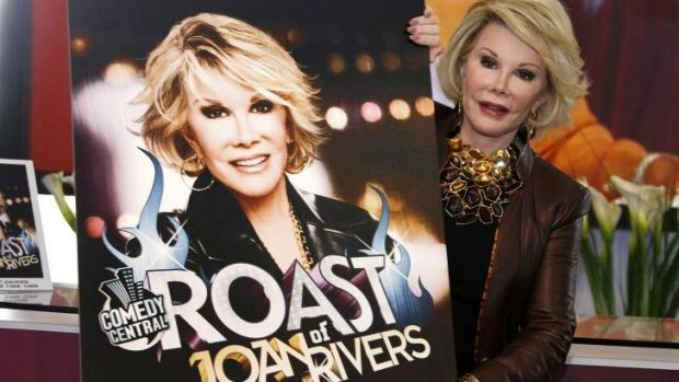 Joan Rivers poses for photographers as she presents Comedy Roast with Joan Rivers.