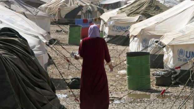 A UN internal refugee camp in Erbil, Kurdish Iraq.