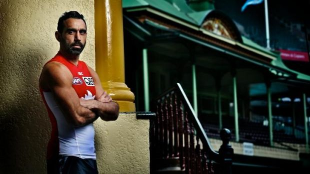 Proud: Dual Brownlow Medallist and premiership winner Adam Goodes says there's much more to his role than football.