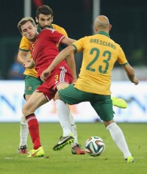 Still got it: Australia's Mark Bresciano.