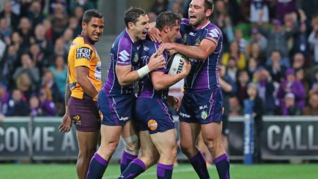 Hopeful: Cameron Smith is hoping to beat an ankle injury and play in the NRL finals.