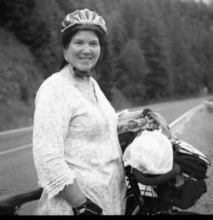 Joanna Abernethy cycled across the United States as  a tribute to her hero, Martin Luther King jnr.