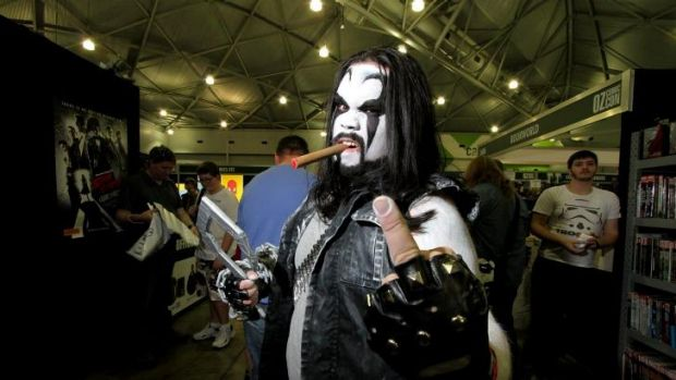 Samuel Hanson, from Runcorn, is dressed as Lobo from DC Comics.