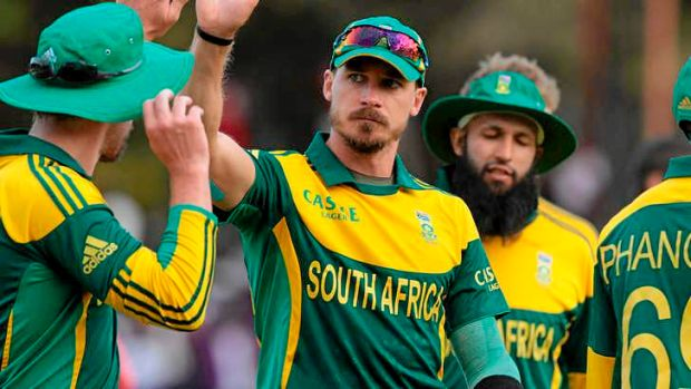 Angry: Dale Steyn took four wickets in the tri-series final against Australia.