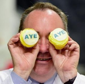 The independence movement, led by Alex Salmond's Scottish National Party, may break the 307-year-old union with  England.