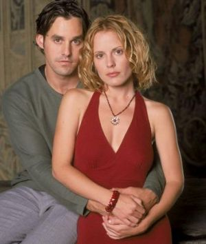 Nicholas Brendon and Emma Caulfield as Xander and Anya in <i>Buffy the Vampire Slayer</i>.