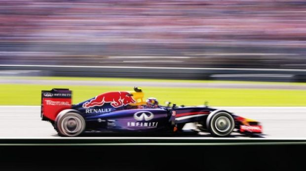 Daniel Ricciardo drives during practice.