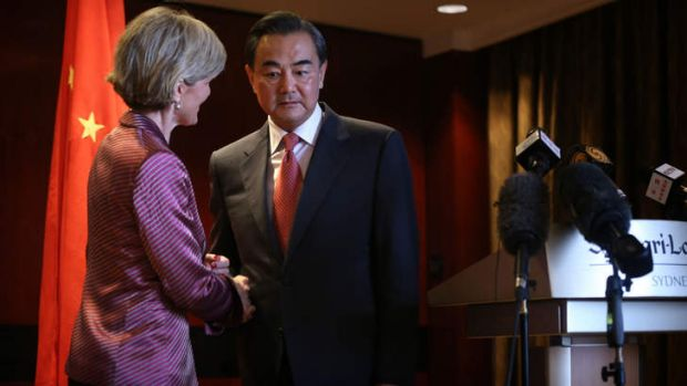 Australian Minister for Foreign Affairs Julie Bishop welcomes her Chinese counterpart Minister Wang Yi to Australia.