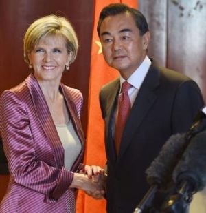 Julie Bishop and Chinese Foreign Minister Wang Yi.