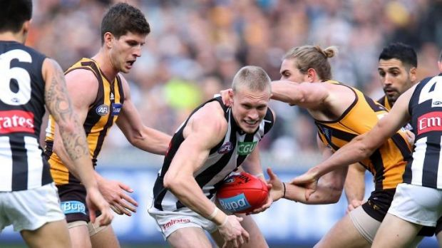 Pies problem: AFL fans abroad will have to look elsewhere for their weekly fix.