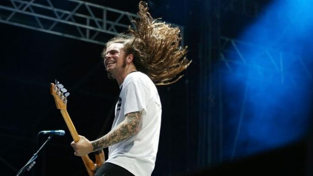 Hungry: Luke Henery of Violent Soho who have been nominated for best independent hard rock, heavy or punk album.