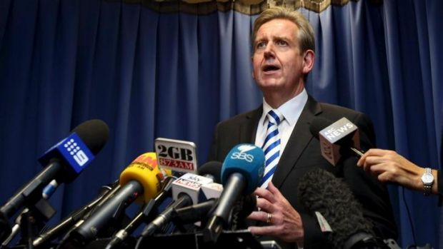 Barry O'Farrell as opposition leader allegedly relied on a developer to help fund the 2011 state election campaign.