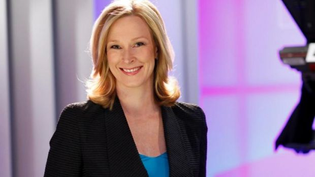 Back in the hot seat: Leigh Sales returned to the <i>7.30</i> chair on Monday after a six-month maternity leave break.