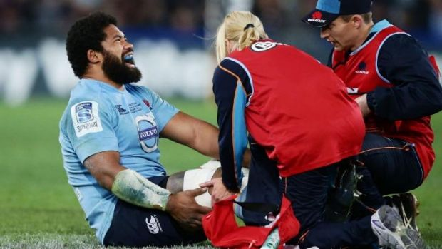 Polota-Nau injured his knee during the Super Rugby final.