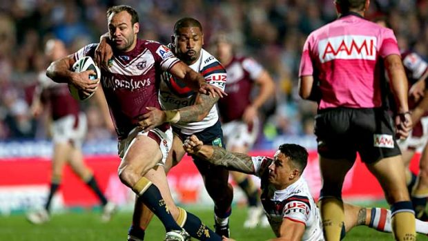 Manly fullback Brett Stewart missed the round 26 clash against the North Queensland Cowboys in Townsville.