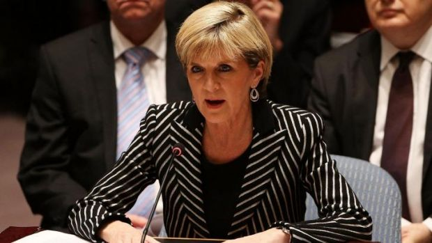 Foreign Affairs Minister Julie Bishop, pictured at the UN Security Council in July, received the best review from survey ...