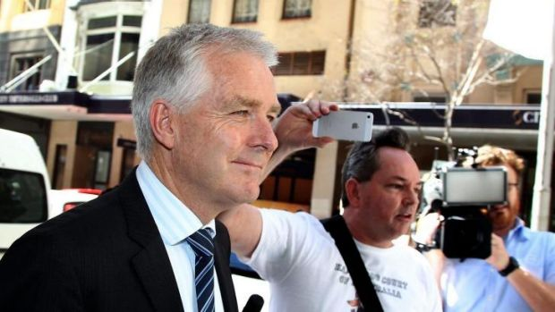 """""""She'd done nothing wrong"""": Bernard Murphy leaves the royal commission."""