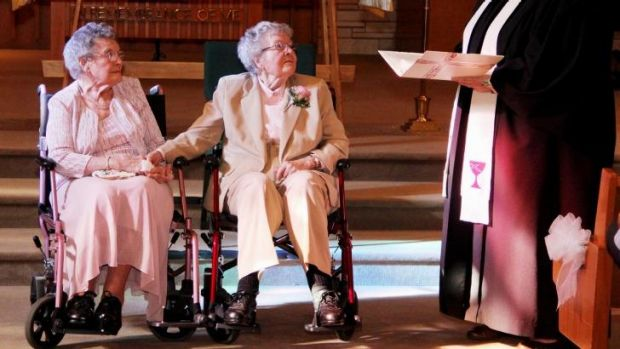Together forever: Vivian Boyack and Alice Dubes.