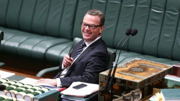Education Minister Christopher Pyne during the debate on the higher education amendment bill.