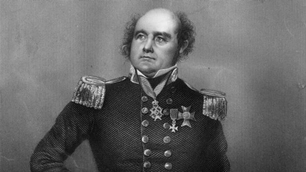 British Naval Officer and Arctic explorer Sir John Franklin (1786 - 1847) who died on an expedition to navigate the ...