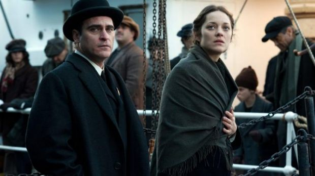 Arriving in hope: Marion Cotillard with Joaquin Phoenix in <i>The Immigrant</i>, her latest movie.